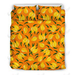 Mango Pattern Orange And Yellow Printed Bedding Set Bedroom Decor