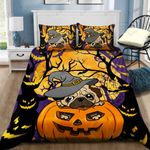 Pug Halloween Printed Bedding Set Bedroom Decor