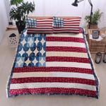 American Dot Printed Bedding Set Bedroom Decor