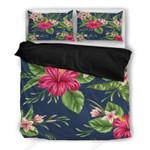 Hawaii Hibicus Summer Printed Bedding Set Bedroom Decor