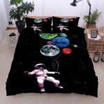 Balloon Planets Printed Bedding Set Bedroom Decor