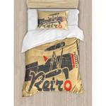 Airplane Retro Printed Bedding Set Bedroom Decor