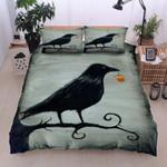 A Raven Pumskin Printed Bedding Set Bedroom Decor