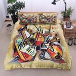 Music Instrument Vintage Printed Bedding Set Bedroom Decor