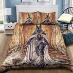 Anubis Egyptian Printed Bedding Set Bedroom Decor