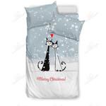 Merry Christmas Printed Bedding Set Bedroom Decor