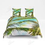 Palm Leave Printed Bedding Set Bedroom Decor