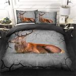 Lonely Brown Deer Printed Bedding Set Bedroom Decor