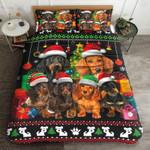 Dachshund Christmas Printed Bedding Set Bedroom Decor
