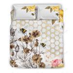 Beekeeping Honey Printed Bedding Set Bedroom Decor