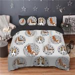 Basset Hound Printed Bedding Set Bedroom Decor