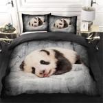 Panda Lying Printed Bedding Set Bedroom Decor