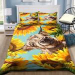 Highland Cow Sunflower Printed Bedding Set Bedroom Decor