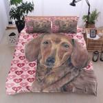 Nar Dachshund Heart Printed Bedding Set Bedroom Decor