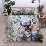 Watch Pig Pink Printed Bedding Set Bedroom Decor