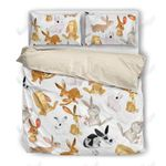 Lovely Rabbit Printed Bedding Set Bedroom Decor