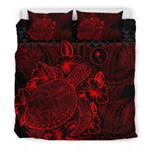 Chuukred Red Turtle Color Printed Bedding Set Bedroom Decor