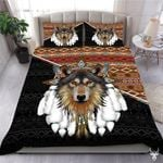 American Wolf Printed Bedding Set Bedroom Decor