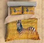 Zebra Yellow Printed Bedding Set Bedroom Decor