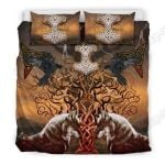Viking Wolf Printed Bedding Set Bedroom Decor