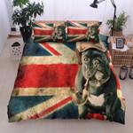 Bulldog Flag Printed Bedding Set Bedroom Decor