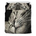 Sleepy Cat Printed Bedding Set Bedroom Decor