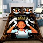 Black Queen Nurse Printed Bedding Set Bedroom Decor