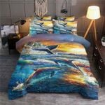 Dolphin Drawing Printed Bedding Set Bedroom Decor