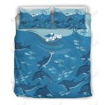 Herd Of Dolphins Printed Bedding Set Bedroom Decor