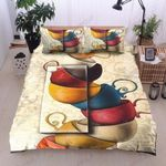Coffee Pattern Printed Bedding Set Bedroom Decor