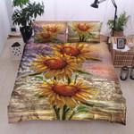 Three Sunflower Printed Bedding Set Bedroom Decor