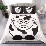 Fat Cow Cartoon Printed Bedding Set Bedroom Decor