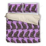 Oriental Longhair Pattern Printed Bedding Set Bedroom Decor