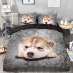 Baby Husky Sleep Printed Bedding Set Bedroom Decor