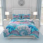 Sleepy Mermaid Printed Bedding Set Bedroom Decor