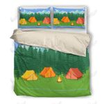 Tents Campfire Printed Bedding Set Bedroom Decor
