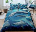 Shark Sea Printed Bedding Set Bedroom Decor