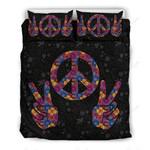 Peace Hi Hand Printed Bedding Set Bedroom Decor