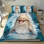 Cute Dolphin Ocean Printed Bedding Set Bedroom Decor