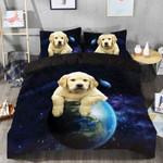 Labrador Galaxy Printed Bedding Set Bedroom Decor