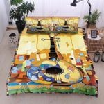 Textured Banjo Printed Bedding Set Bedroom Decor