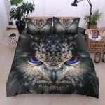 Beautiful Owl With Blue Eyes Printed Bedding Set Bedroom Decor