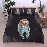 Sloth Astronaut Printed Bedding Set Bedroom Decor