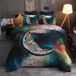 Skull Moon Printed Bedding Set Bedroom Decor