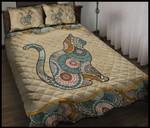 Cat Mandala Printed Bedding Set Bedroom Decor
