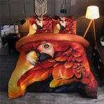 Red Parrot Printed Bedding Set Bedroom Decor