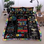 Austim It's Ok To Be Diffirent Printed Bedding Set Bedroom Decor