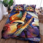 Saxophone Music Printed Bedding Set Bedroom Decor