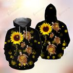 Turtle Sunflowers You Are My Sunshine 3D Hoodie Full-zip Hoodie T-shirt