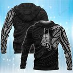 Lion Supremacy Featured Polynesian Themed Tattoo 3D Hoodie